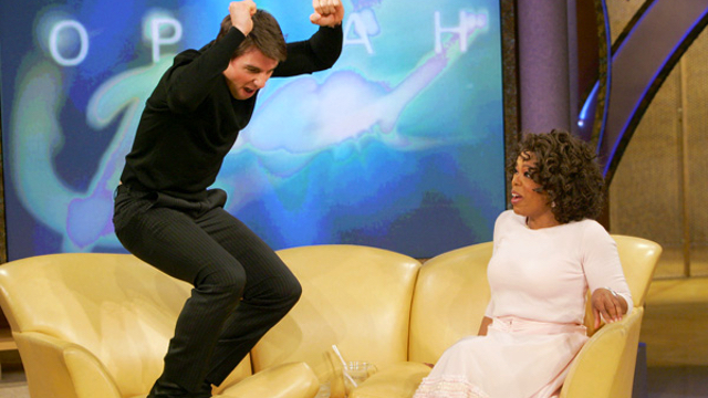 Tom Cruise jumping on Oprah's couch